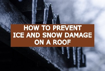 prevent ice and snow damage on roog